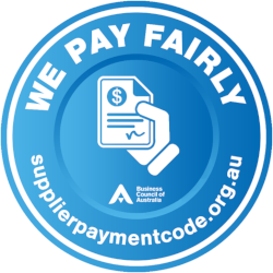 We pay fairly logo